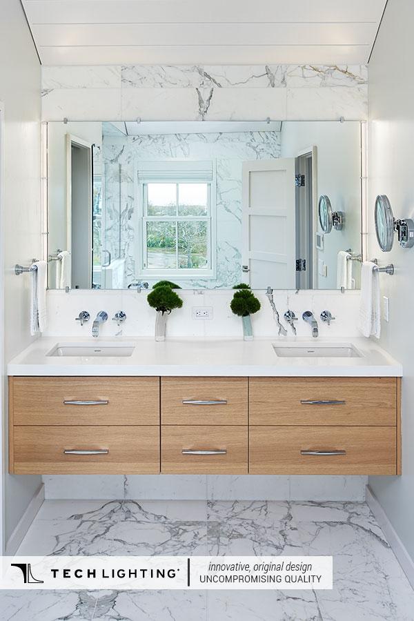 Tech Lighting Contemporary Designer Lighting Home Decor Ideas Gia Bathroom Mirror
